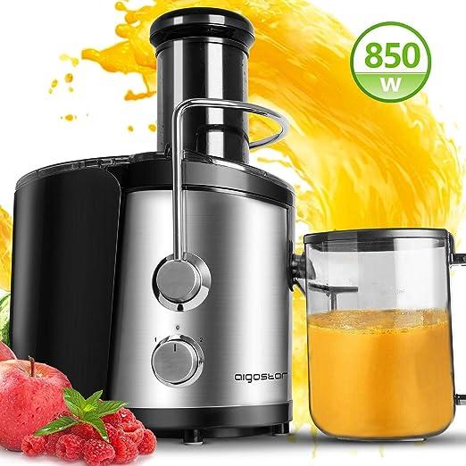 400W Elektrisch juice Entsafter Saftpresse Edelstahl Presse Obstpresse Saft