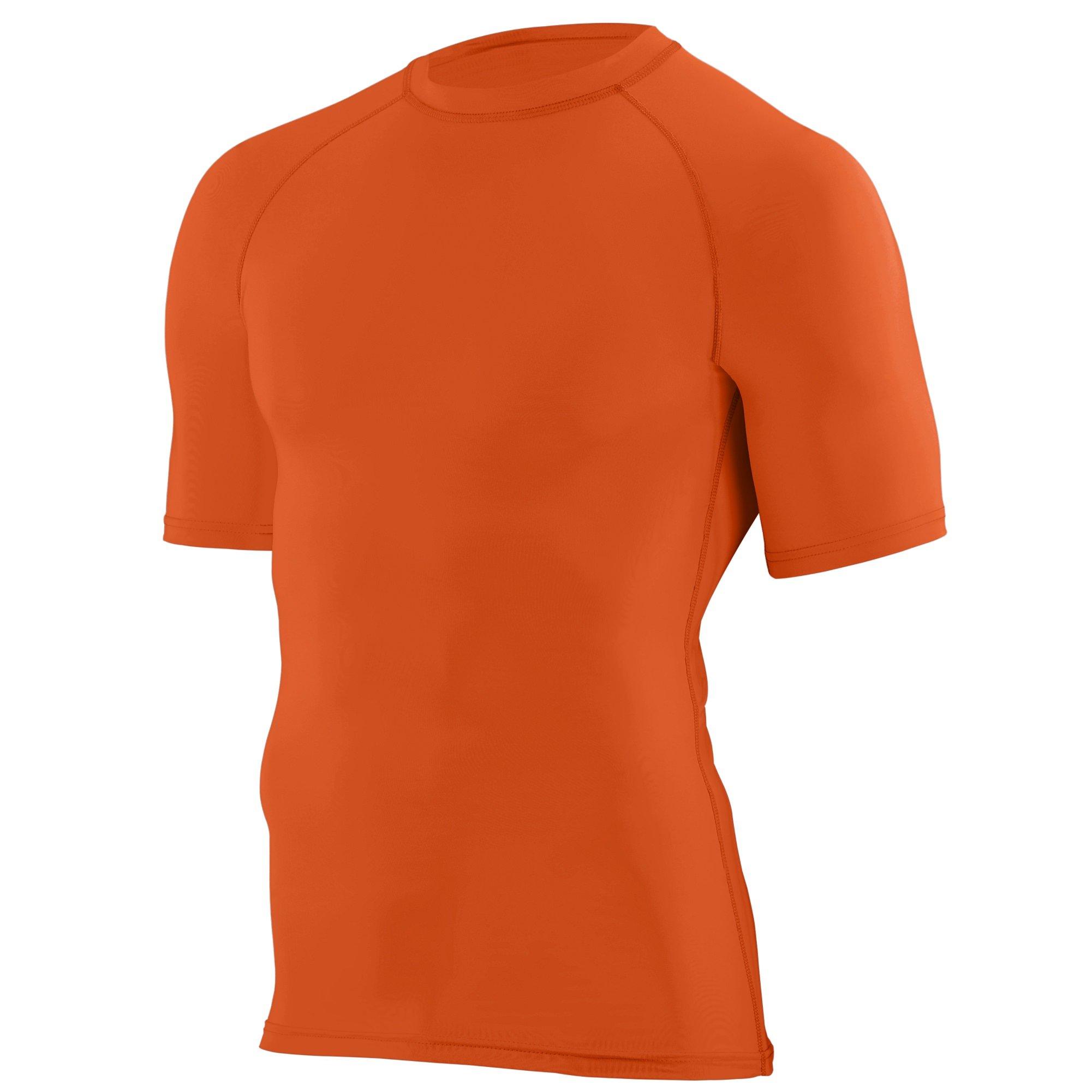 Augusta Sportswear Augusta Youth Hyperform Compression Short Sleeve Shirt, Orange, Small