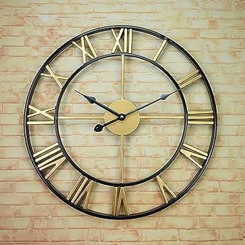 Iron Art Wanduhr, Cafe Restaurant Bekleidungsgeschäft Wohnzimmer Wanduhr  Aus Holz Wanduhr Dekoration Vintage Wanduhr Durchmesser