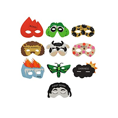 Rite -Lite Judaica Passover Ten Plagues Mask: Home & Kitchen