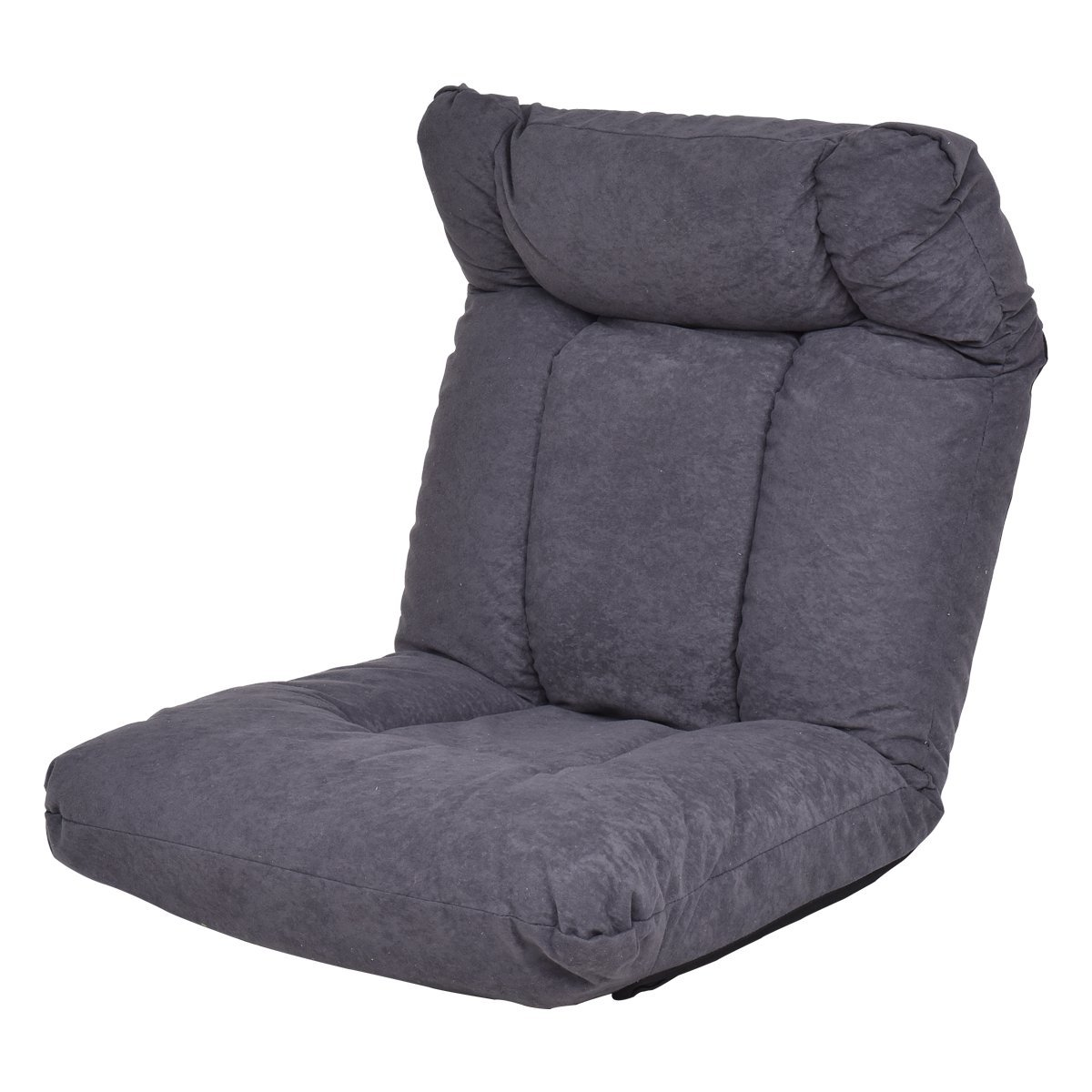 Giantex Cushioned Floor Gaming Sofa Chair Adjustable Folding Lazy Recliner w/Headrest