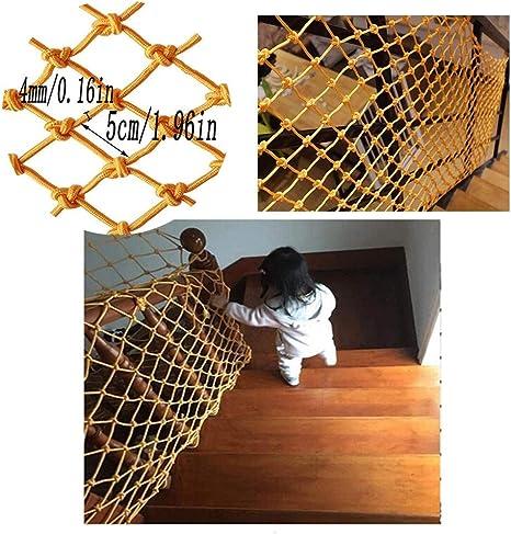 WaiMin Escalera for niños Red Protectora Balcón Red anticaída Nylon Amarillo Malla Decorativa Jardín de Infantes Red Decorativa Malla Tejida a Mano Valla de reja Red (Size : 1x1m): Amazon.es: Hogar