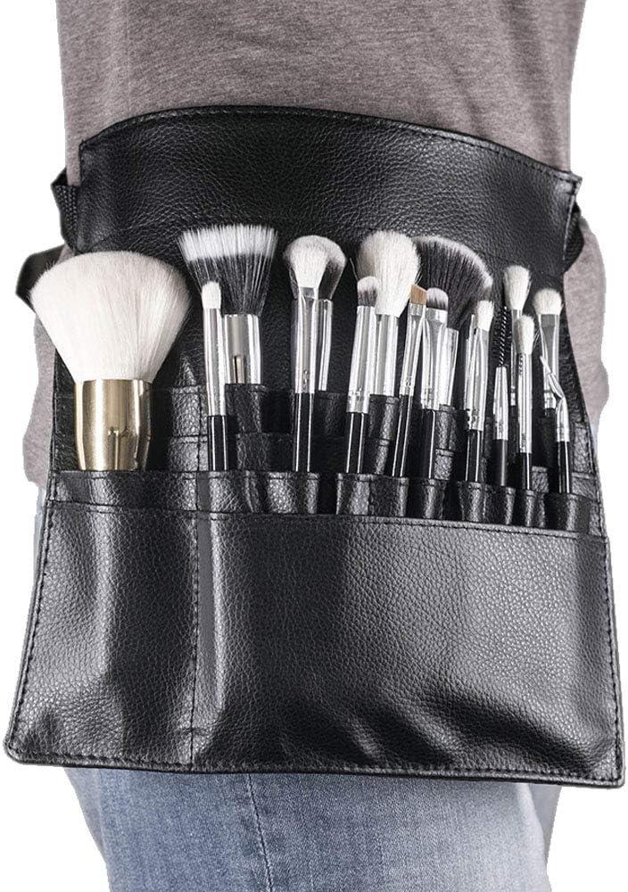 LETGOPrime Deals 2020 - Brocha profesional para maquillaje con 22 bolsillos, correa para cinturón para mujer (cepillo no incluido)., , , Pattern A,, ]