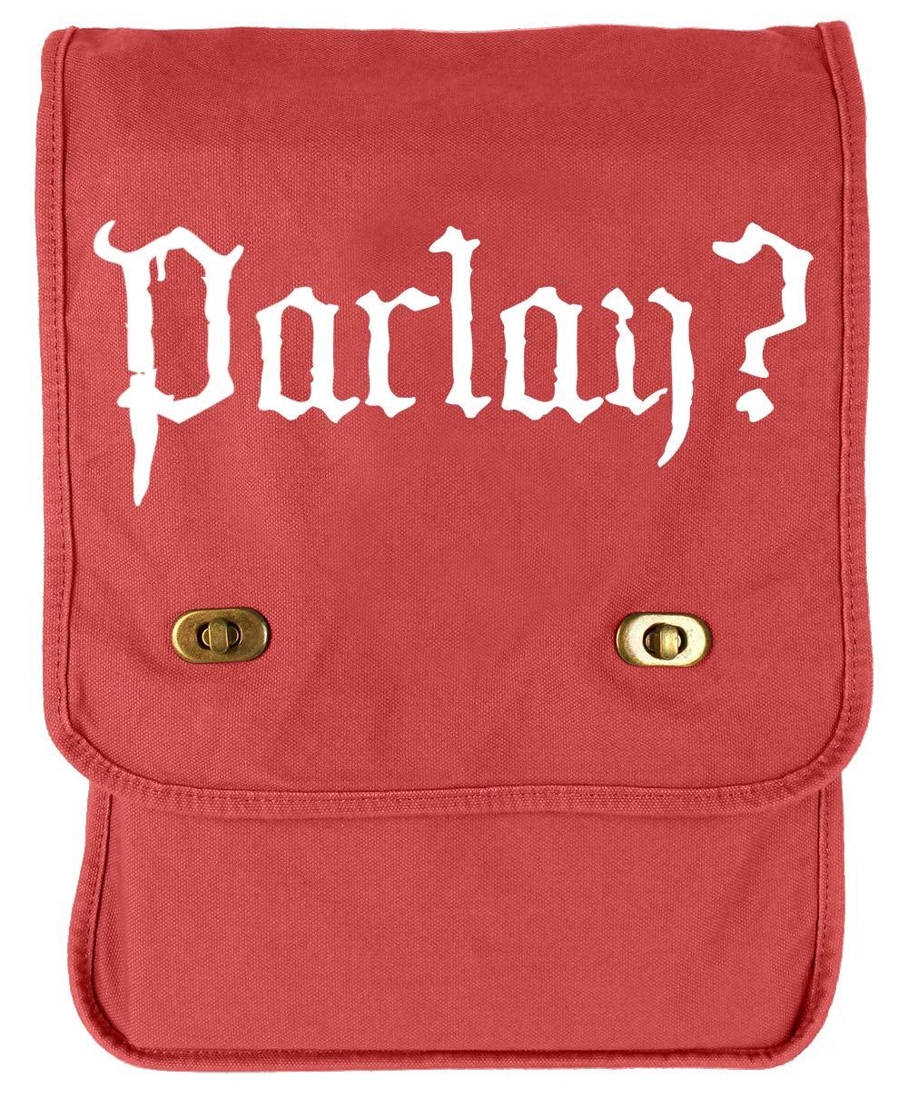 Tenacitee Parlay Red Brushed Canvas Messenger Bag