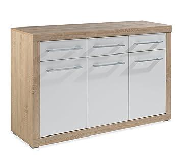 sideboard charlie 1, hochglanz weiß: amazon.de: küche & haushalt - Sideboard Für Küche