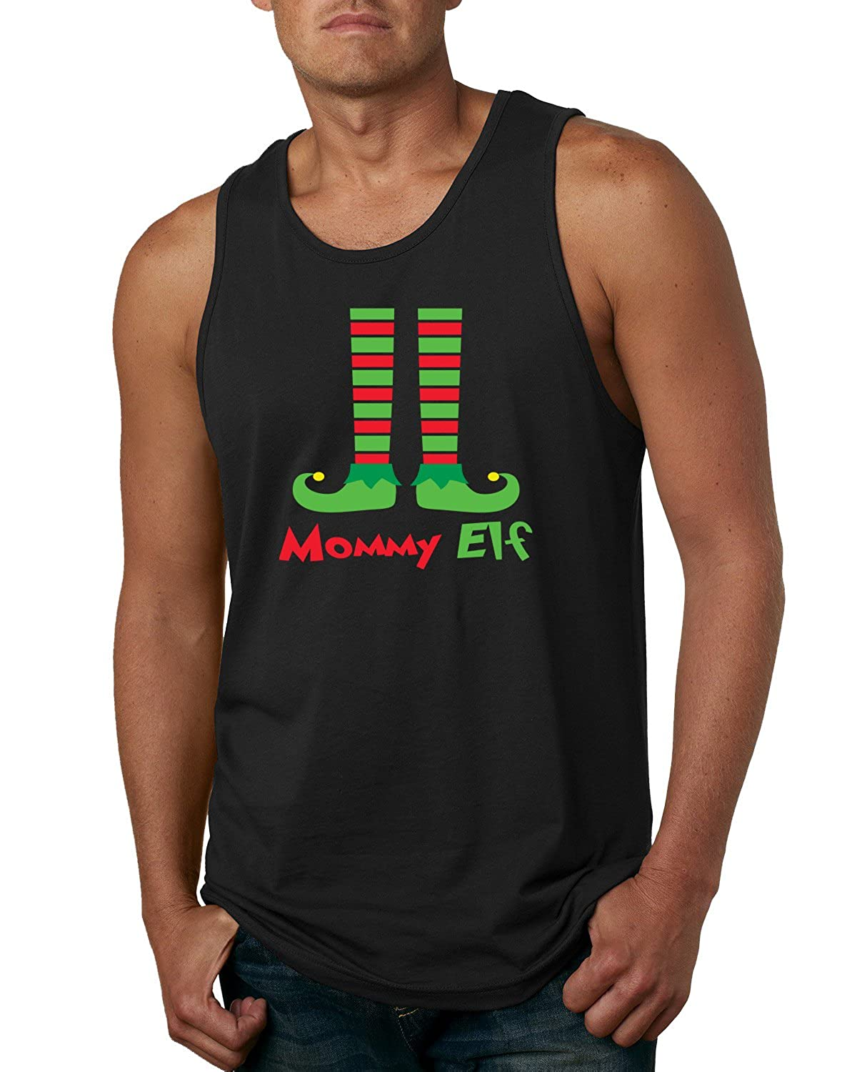 Stocking Shoes Wild Bobby Mommy Elf Mens Ugly Christmas Fashion Graphic Tank Top