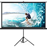 TaoTronics Projector Screen with Stand, TT-HP020 Indoor Outdoor Movie Projection Screen 4K HD with Wrinkle-Free Design…