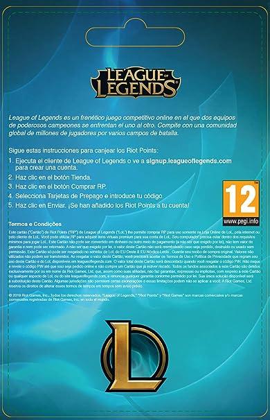 League of Legends €50 Tarjeta de regalo prepaga (7200 Riot ...