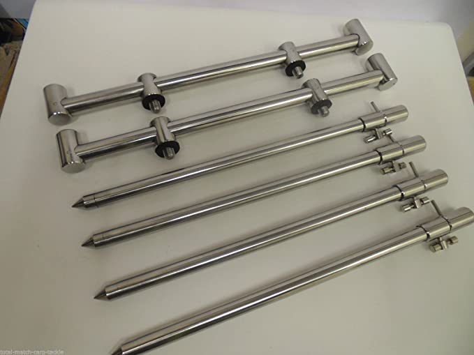 Buzz Bar Alarms 16mm 3 x TMC Aluminium Bank Sticks 15-25 cm/'s Rod Rests