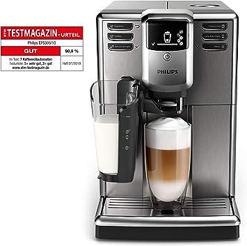 Philips 5000 Serie EP533510 Kaffeevollautomat, 6 Kaffeespezialitäten (LatteGo Milchsystem) Edelstahl