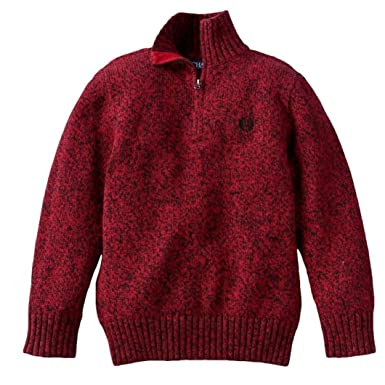 Amazon.com: Chaps Quarter-Zip Pullover Sweater Boys 4-8: Clothing
