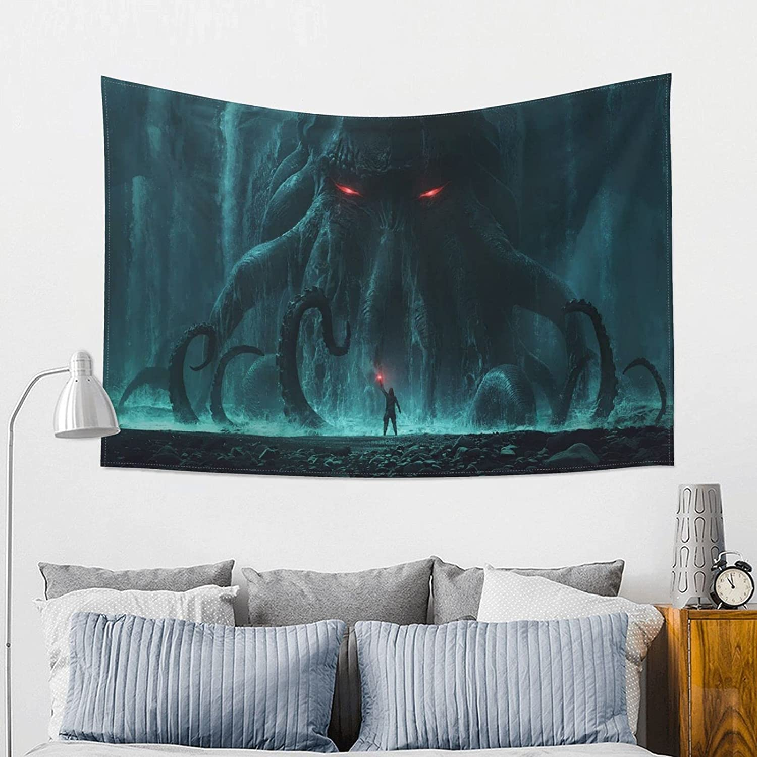 Cthulhu Anime Wall Hanging Art For Bedroom Living Room College Dorm Home Decor Tapestries Christmas, One Size