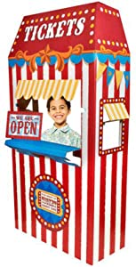 Carnival Games Party Supplies Decoration Ticket Booth Cardboard Stand Playhouse