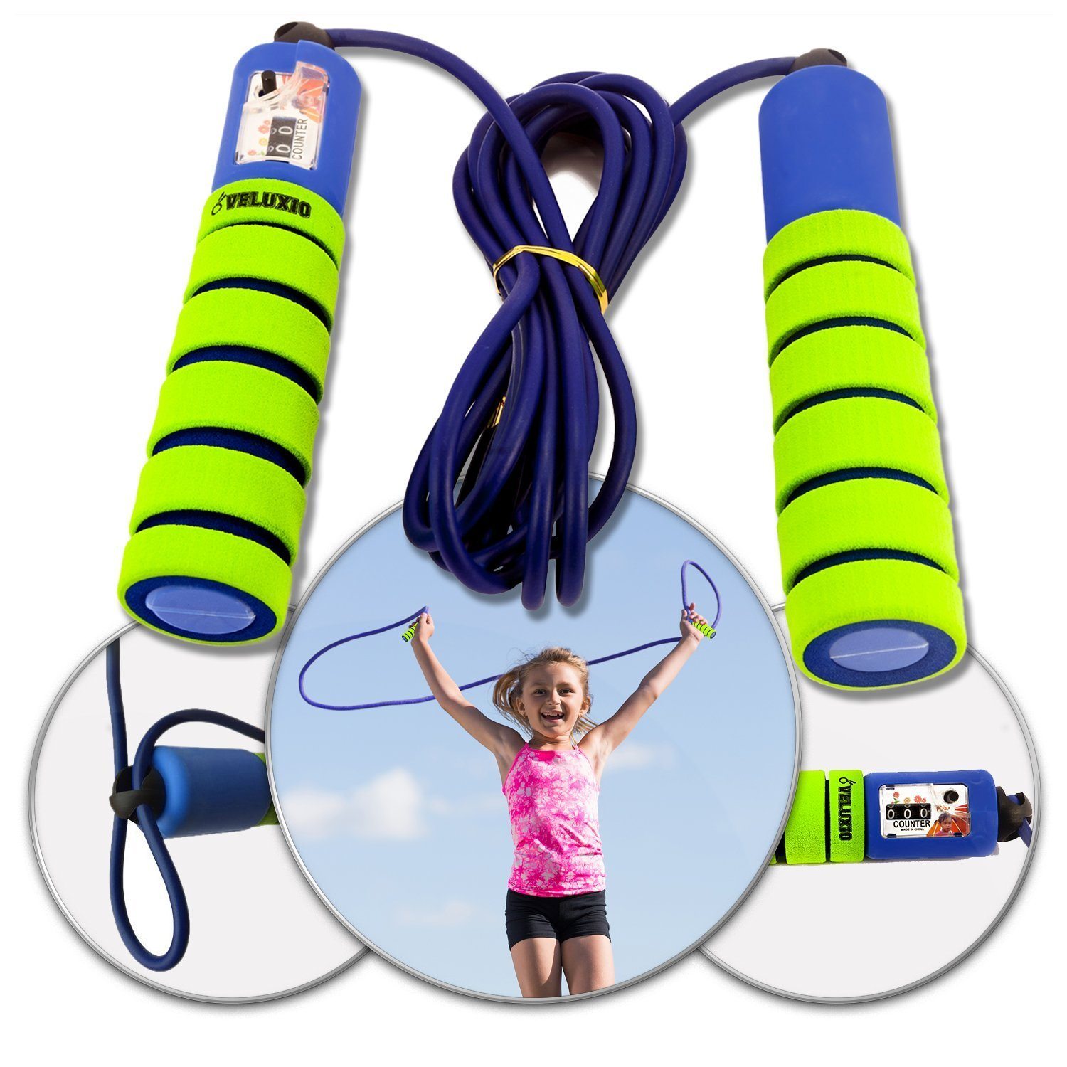 Veluxio Adjustable Jump Rope for Kids with Counter   eBay