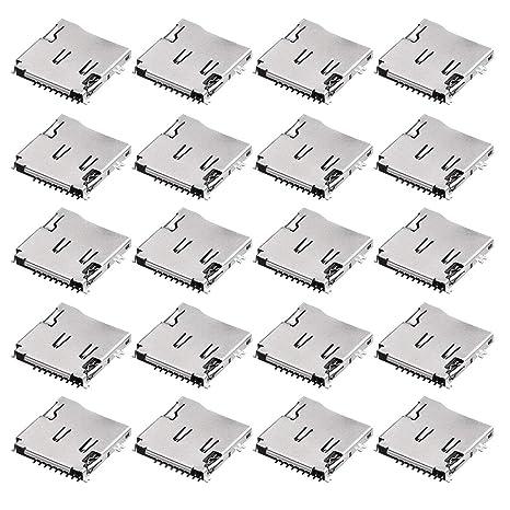 Amazon.com: uxcell SMT SMD - Soporte de tarjeta micro SD (TF ...