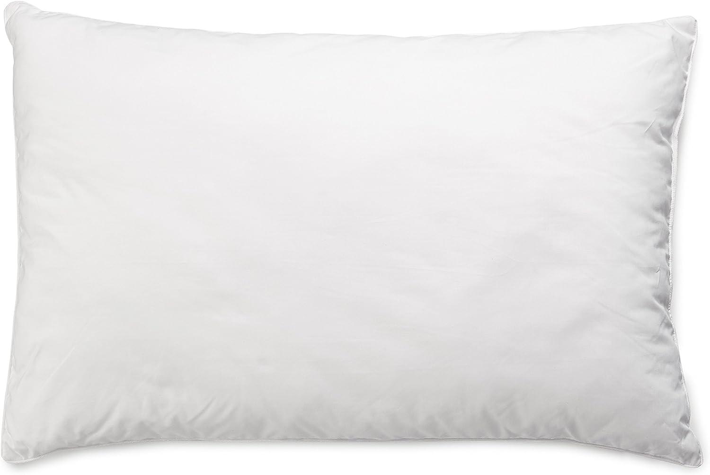 AmazonBasics Almohada con cordón, Funda: 100% algodón, 50x75 cm ...