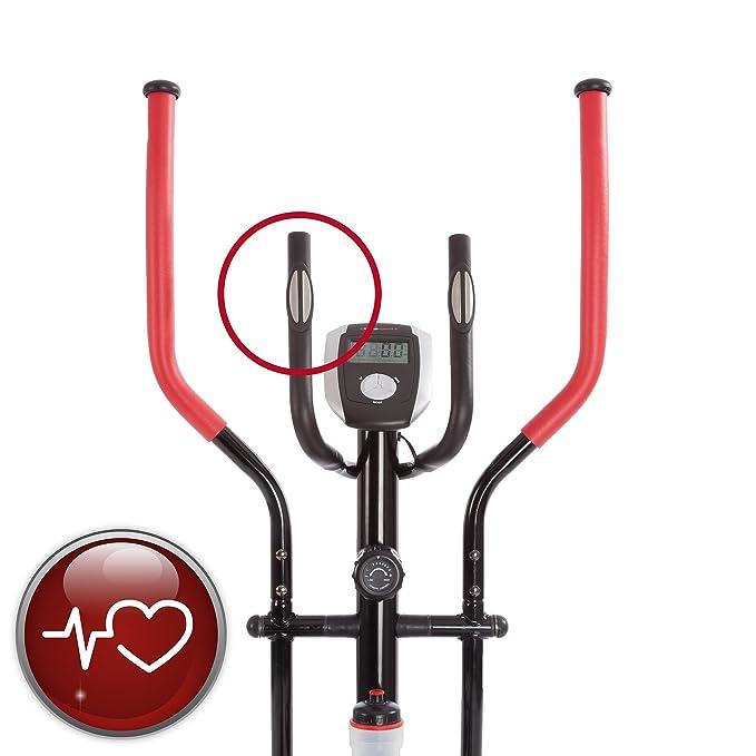 Ultrasport entrenador XT-900M Cruz formador/entrenador elíptico con sensores táctiles (incl. botella): Amazon.es: Deportes y aire libre