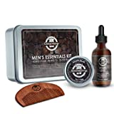 Amazon Price History for:Beard Oil and Beard Balm Gift Set - Gentle Vikings Beard Kit for Men Care with Wooden Comb- Mustache & Beard Styling & Shaping - Natural and Organic Ingredients