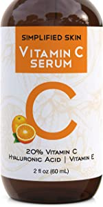 Vitamin C Serum 20% for Face & Eyes (2 oz). Anti Aging