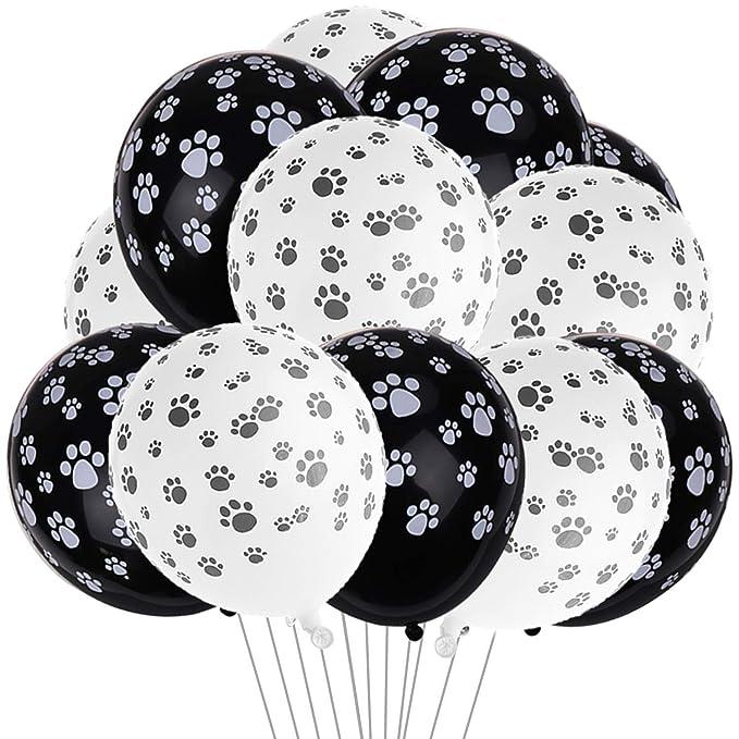 Amazon.com: 50 globos de látex con diseño de huellas de ...