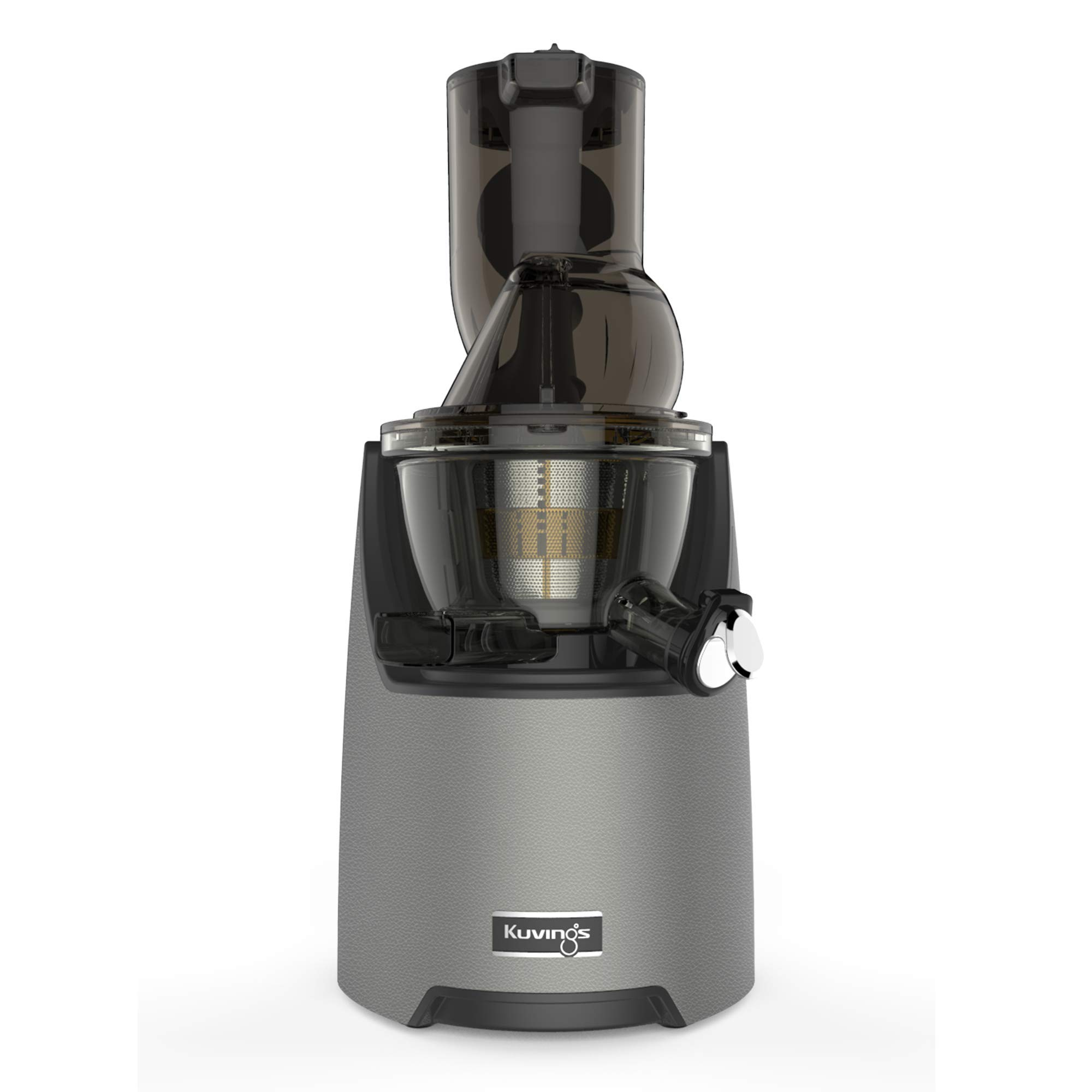 Kuvings Whole Slow Juicer EVO820GM - Higher Nutrients and Vitamins, BPA-Free Components, Easy to Clean, Ultra Efficient 240W, 50RPMs, Includes Smoothie and Blank Strainer-Gun Metal by Kuvings