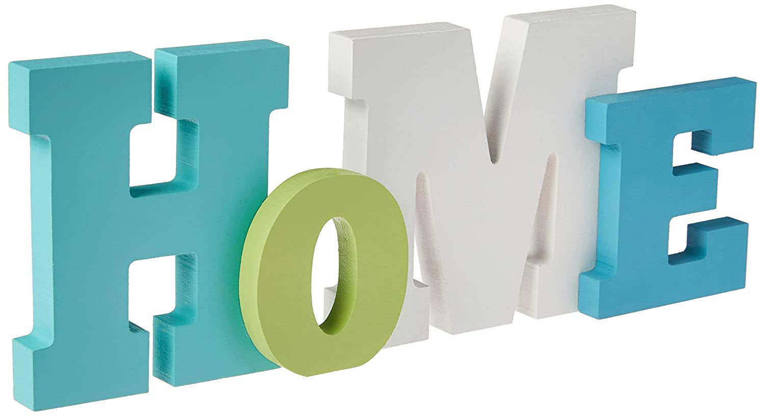 Tumbler Home | Wooden Home Word Sign | Layered Coastal Colored | Home Beach Décor