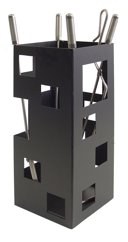 Imex la Volpe 10029-Set per caminetto, quadrato (utili in acciaio inox, 50 x 20 x 20 cm Imex El Zorro