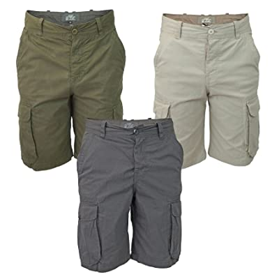 CRYYU Men Casual Straight Cargo Multi Pocket Pure Colour Pants