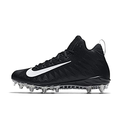 8aeb044fc Nike Men s Alpha Menace Pro Mid Football Cleat Black White Size 8 ...