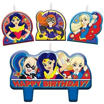 DC Comics Superhero Girls vela Cumpleaños Set