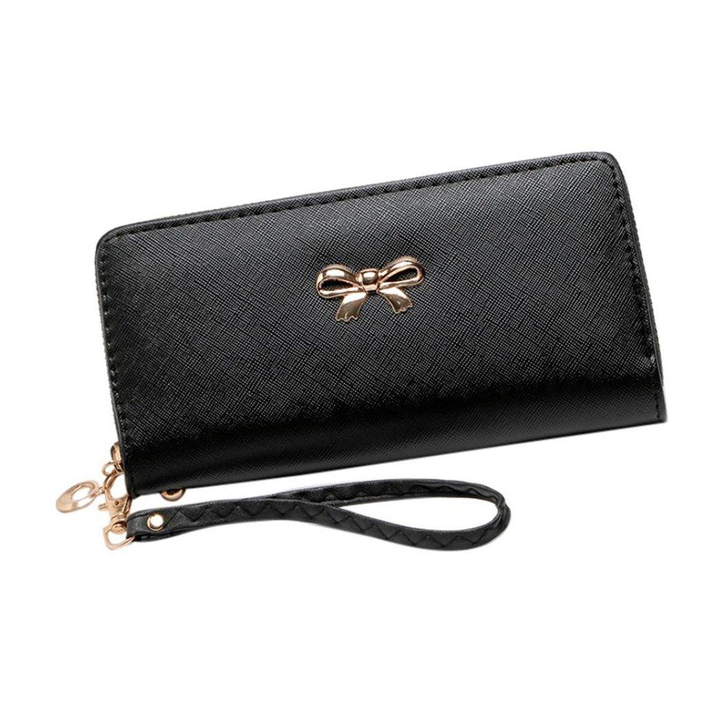 Zero Coin Purse Card Holders Black Wallet women Fuibo 1 Cent Tirette unique /à tirette solide Wallets Phone Bag Billfold Purse for Women Girls Gift