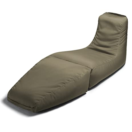 Jaxx Outdoor Prado Bean Bag Lounge Chair Solid Taupe