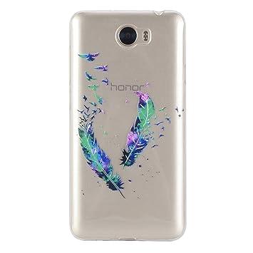 Funda Para Huawei Y6 II Compact / Y5 II(no es compatible con Huawei Y6 II), Sunrive® Ultra Fina TPU Slim Fit Funda Gel Transparente Carcasa Case ...