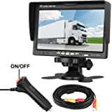 LeeKooLuu Rear View LCD Monitor 7 Display for Car/Truck/Camper/
