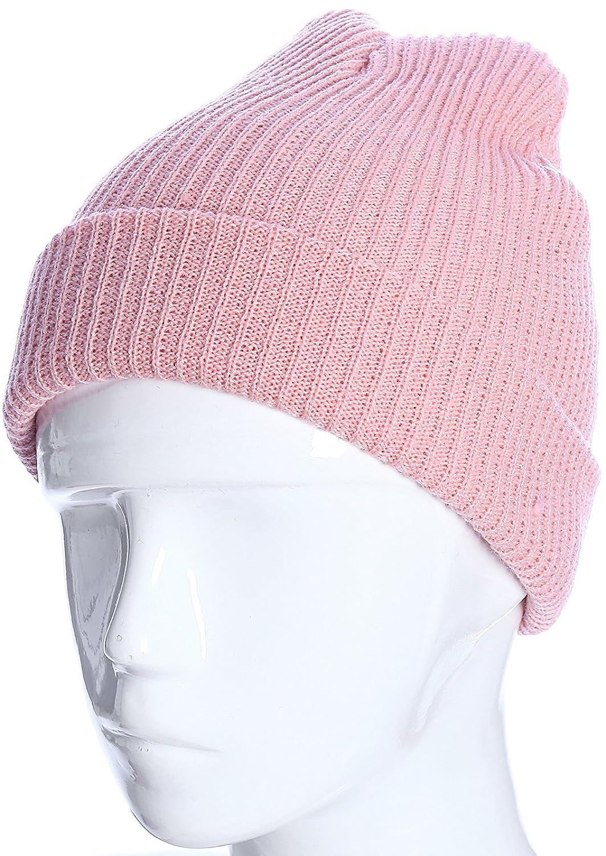 e342b2b25e2 Warm Beanie Hat Fashion Knit Cap For Women Men Cuff Beanies Daily Skull Caps