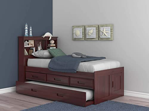 Discovery World Furniture Twin Bookcase Captains Bed