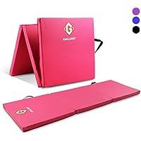 Gallant Tri Folding Exercise Gym Fitness Mat Yoga Pilates Training 180cm x 60cm x 5cm Thick Sweat Resistance Non Slip With Handles