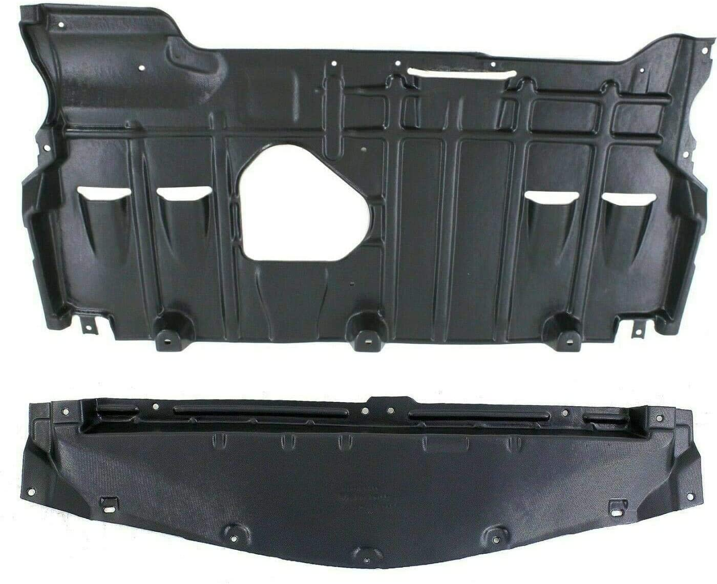 Autoelementss New Set of 2 Front /& Rear Engine Splash Shield Under Cover Plastic for 2010-2013 Mazda 3 Manual 5 Speed Transmission Models Direct Replacement BBM456112E BBM456110C