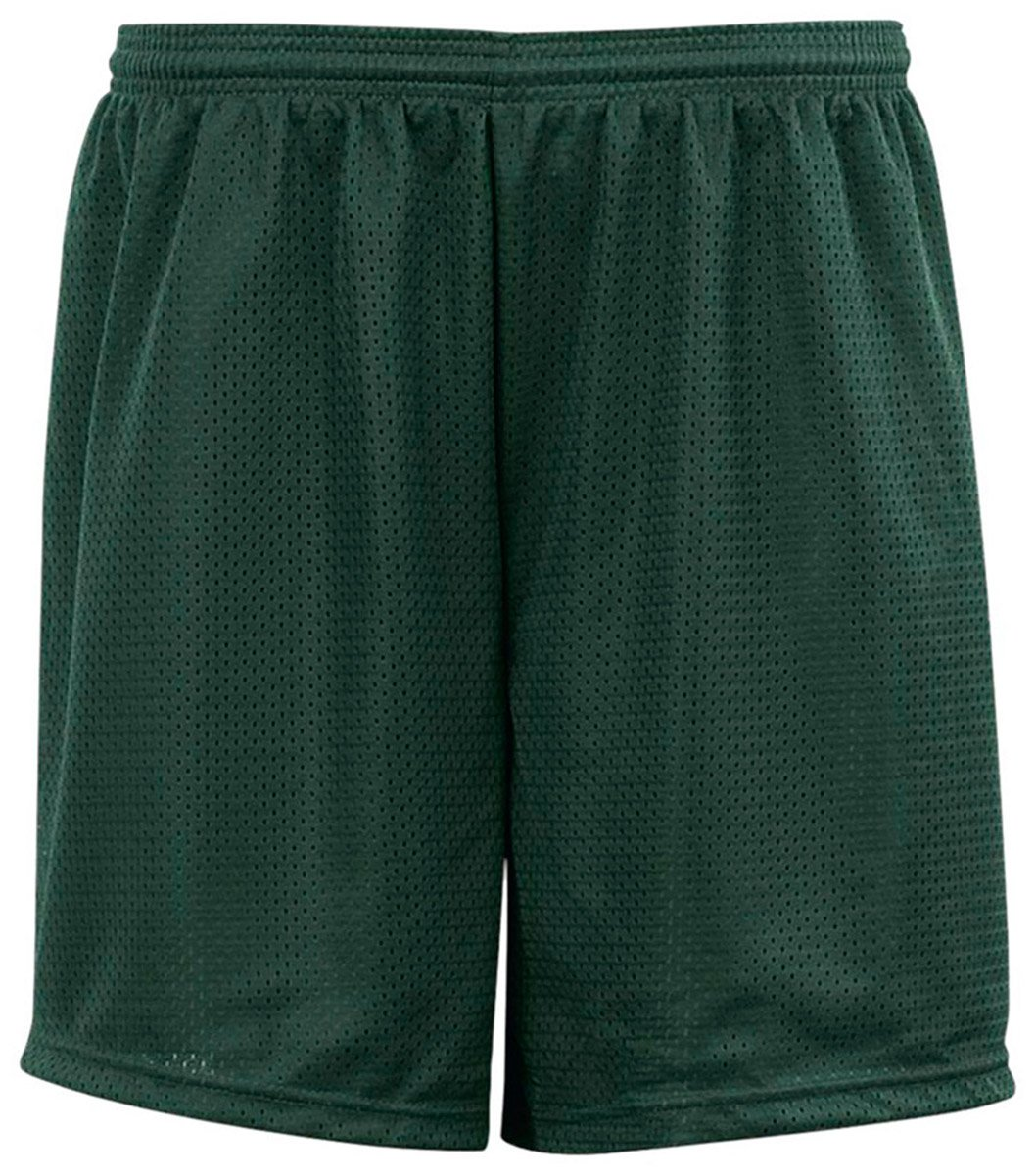 Unisex Child C2 5209 Sport Big Kids Youth Mesh 6'' Short Forest Green Small by C2 Sport