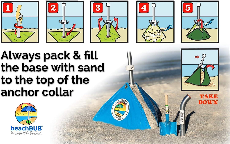 BEACHBUB Ultra The Patio Umbrella Base Made for The Beach DO NOT USE with A Screw Anchor