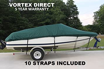 Vortex Heavy DutyGREEN Vhull Fish Ski Runabout Cover for 19 - 20 ' FOOT FT  Boat (FAST SHIPPING - 1 TO 4 BUSINESS DAY DELIVERY)
