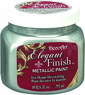 product image for DecoArt DA070-51 Elegant Finish Metallics, 10-Ounce, Shimmering Silver