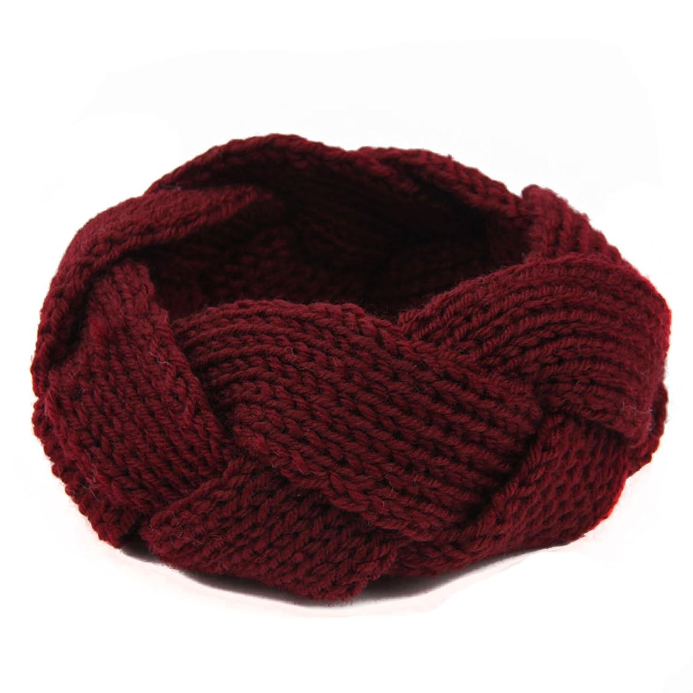 Jelinda® Damen Twist Häkelarbeit Strick Stirnbänder Kopfband Haarband