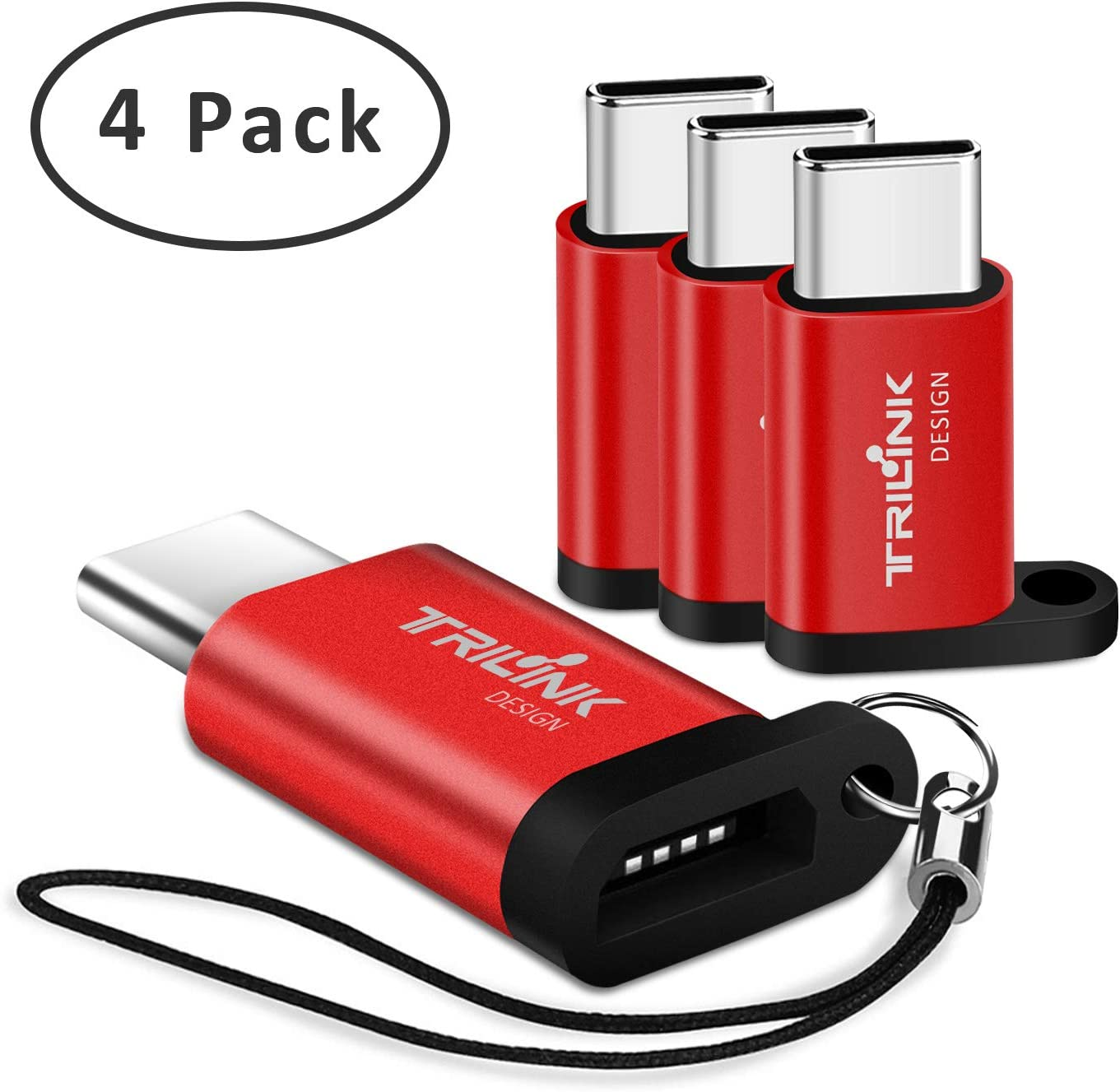 Adaptador Tipo C [Pack de 4] Adaptadores Micro USB a USB C ...