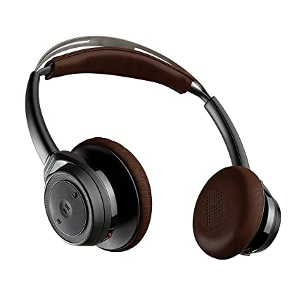 Black : Plantronics Backbeat Sense Wireless Bluetooth Headphones with Mic   Black Electronics
