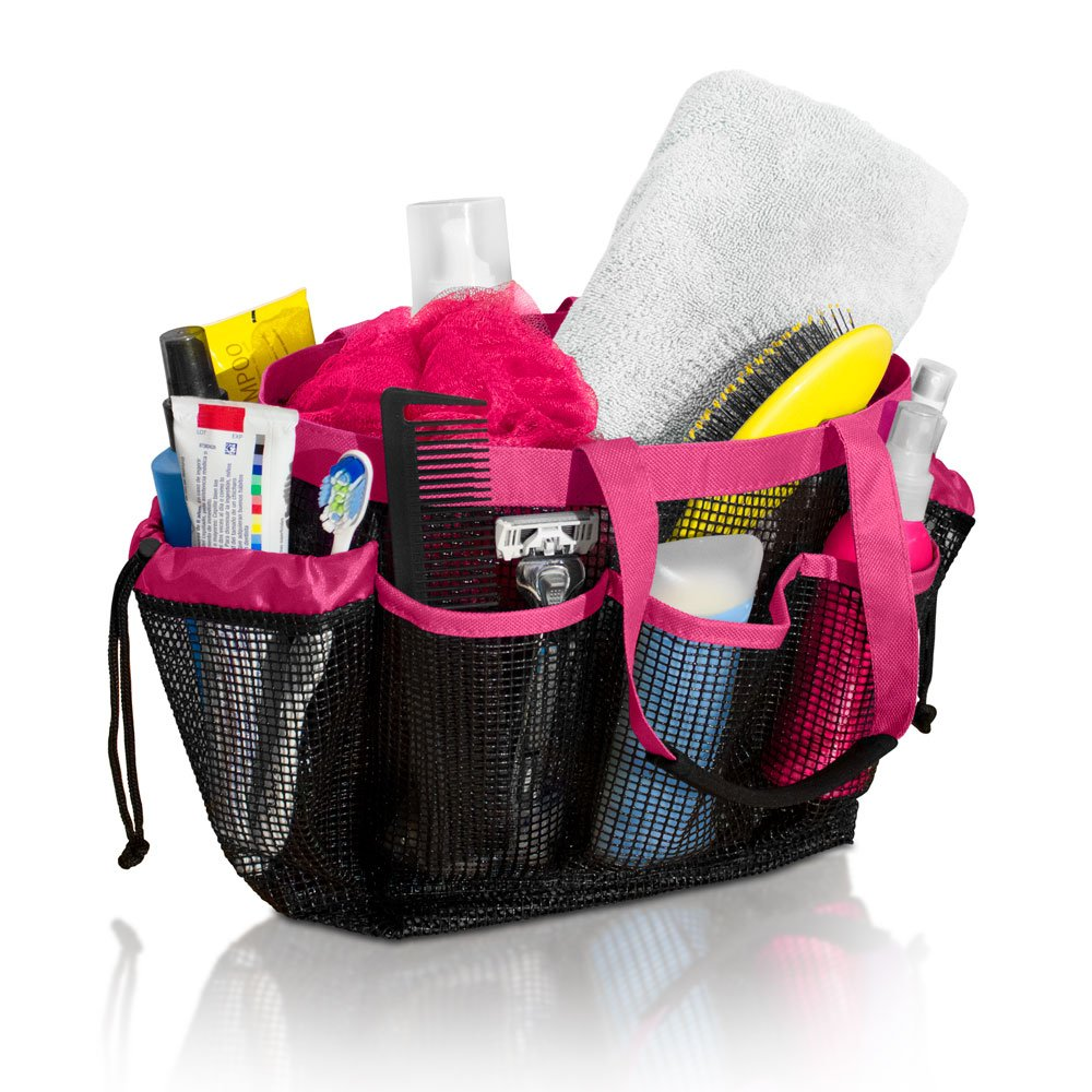 Mesh Shower Caddy and Bath Bag Organizer with 9 Storage Compartments ...