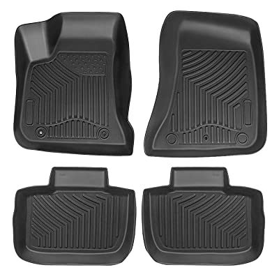 Auovo Floor Mats Liner fits for Dodge Charger Chrysler 300 2011-2020 Accessories All Season TPE Material 100% Odorless Floor Liners: Automotive