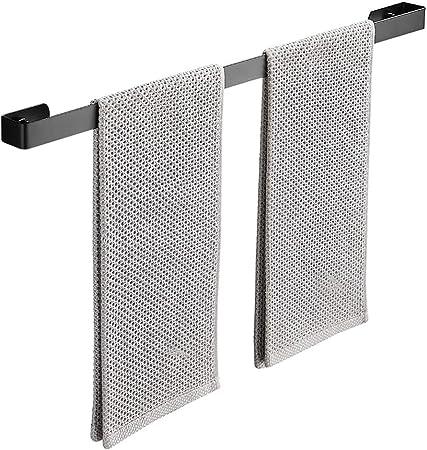 NN Toallero para Invitados, toallero de Acero Inoxidable Cepillado Montaje en Pared Autoadhesivo Toallero para baño y Cocina,Negro,30cm: Amazon.es: Hogar
