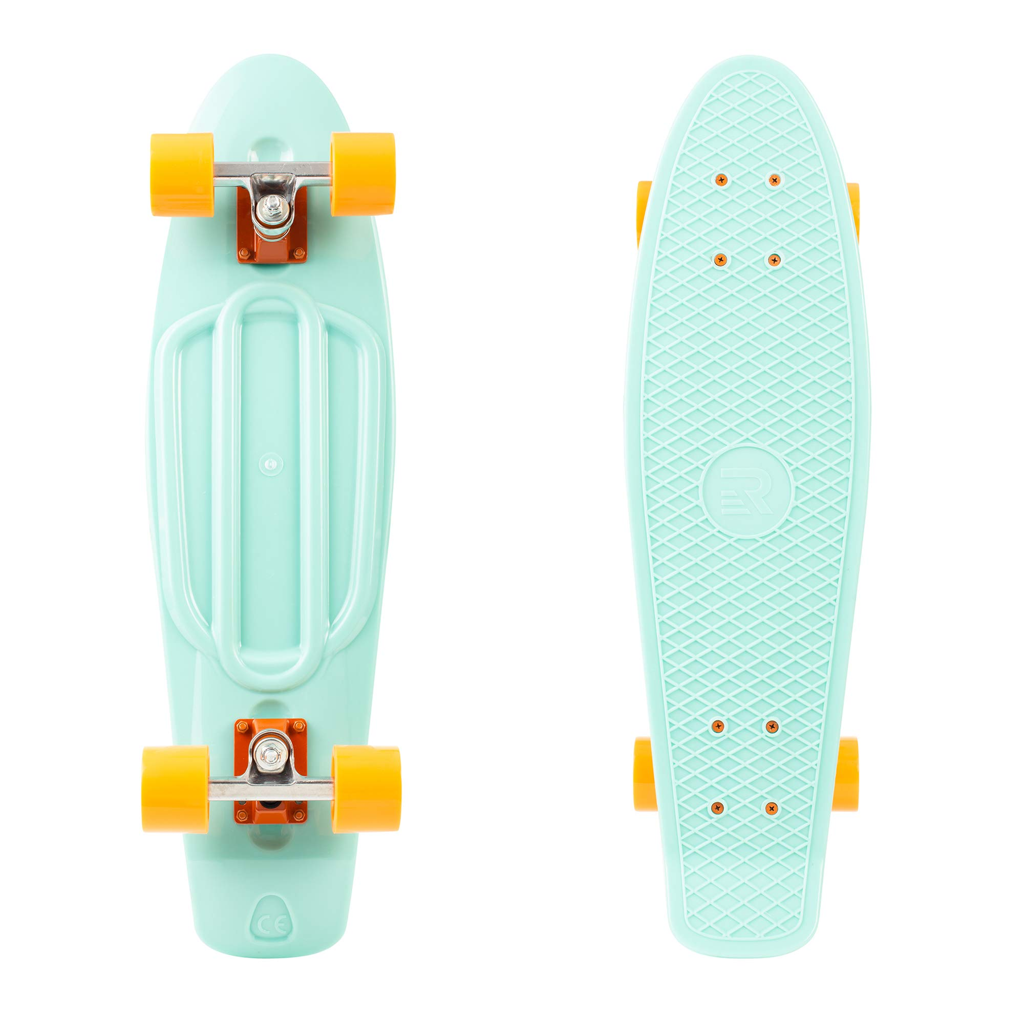 Retrospec Quip Skateboard Classic Retro Plastic Cruiser Complete Skateboard