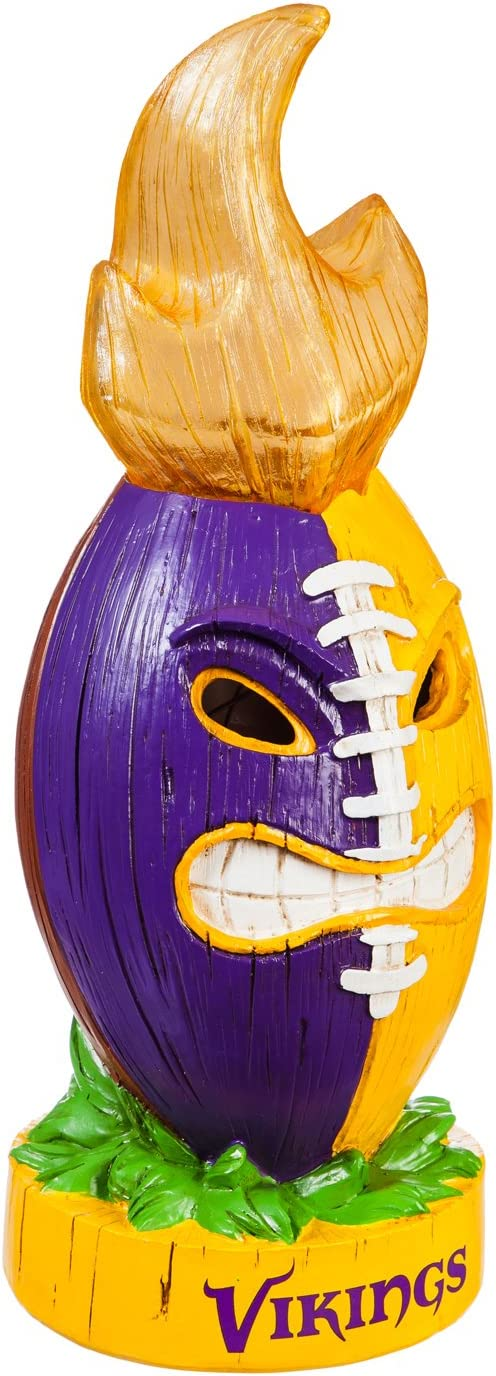 Team Sports America NFL Lit LED Team Tiki Totem Outdoor Safe Garden Statue
